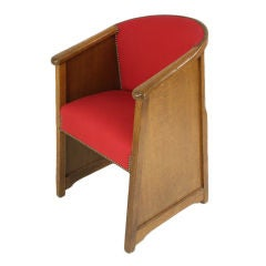 EIGHT Deco English Oak Dining Chairs