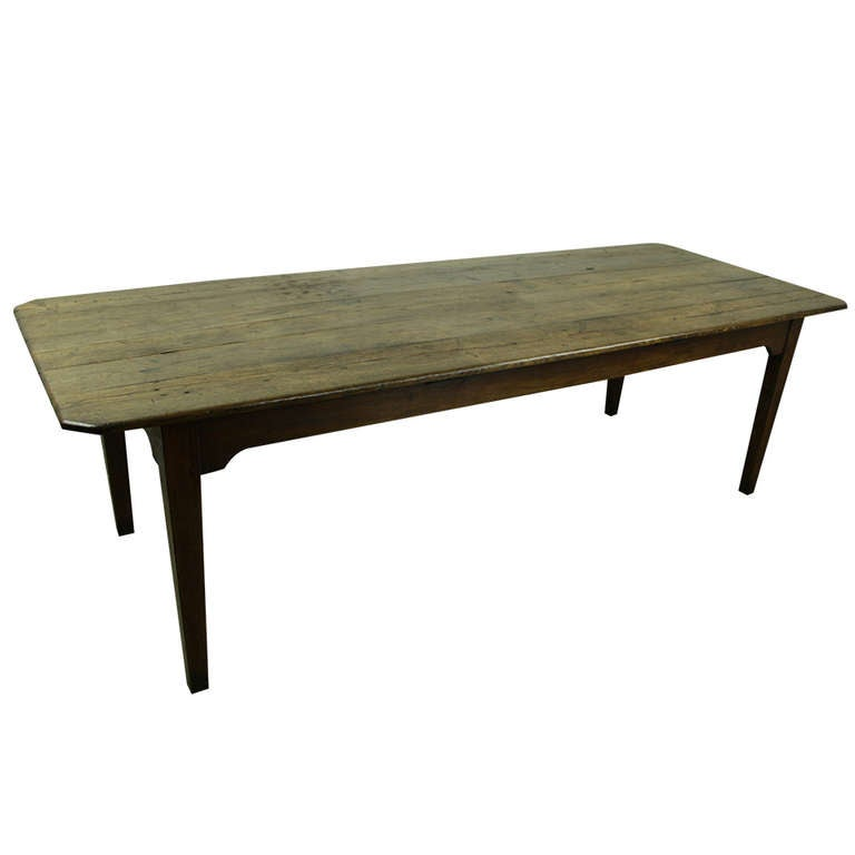 Large French Country Chestnut Dining Table At 1stdibs