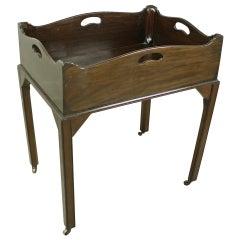 English Georgian Mahogany Decanter Tray Table