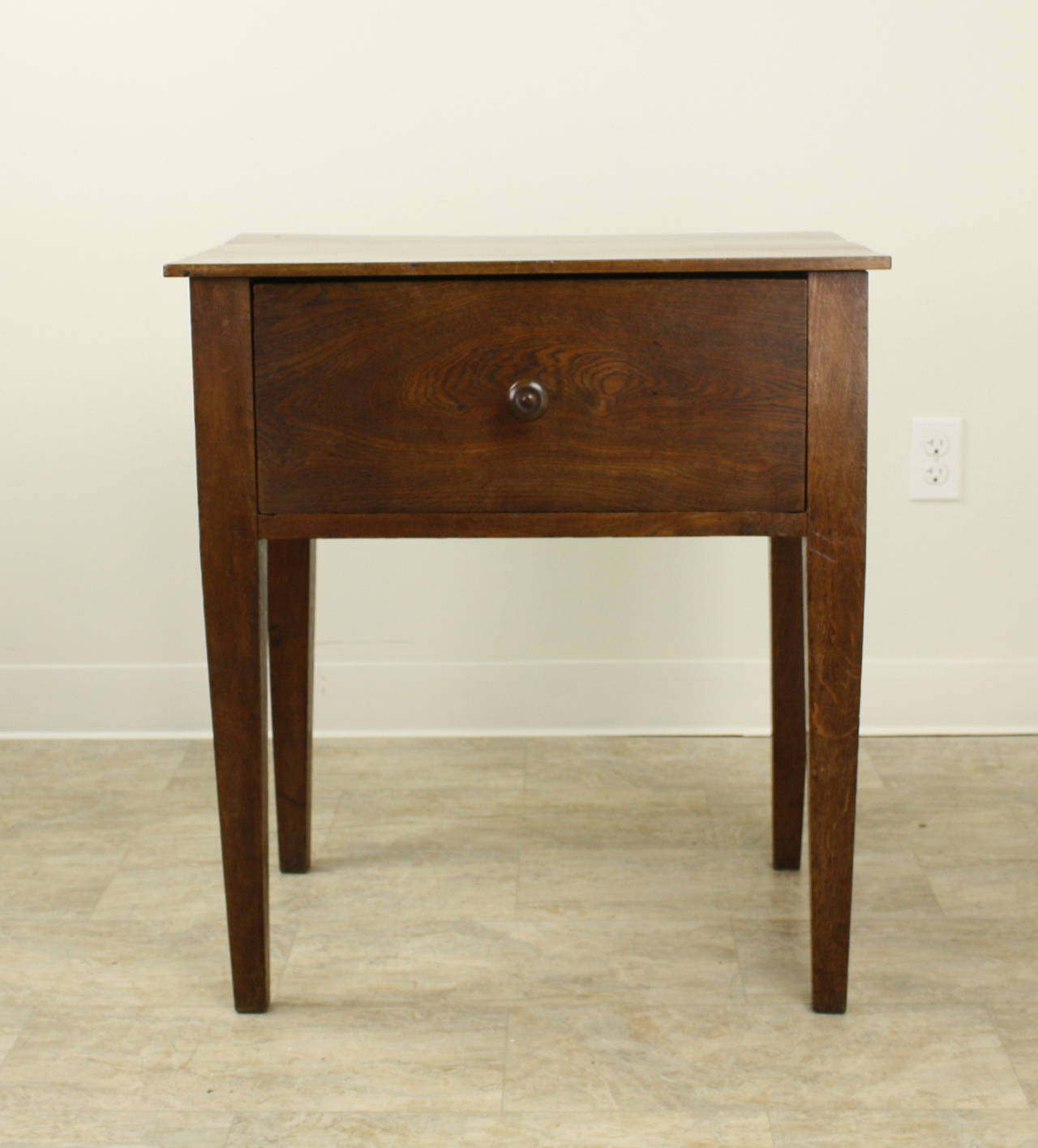 Antique walnut and oak side table for sale at 1stdibs for Walnut side table