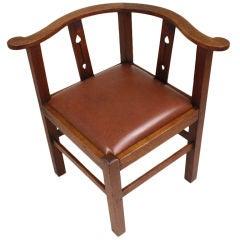 Antique English Arts & Crafts Corner Chair