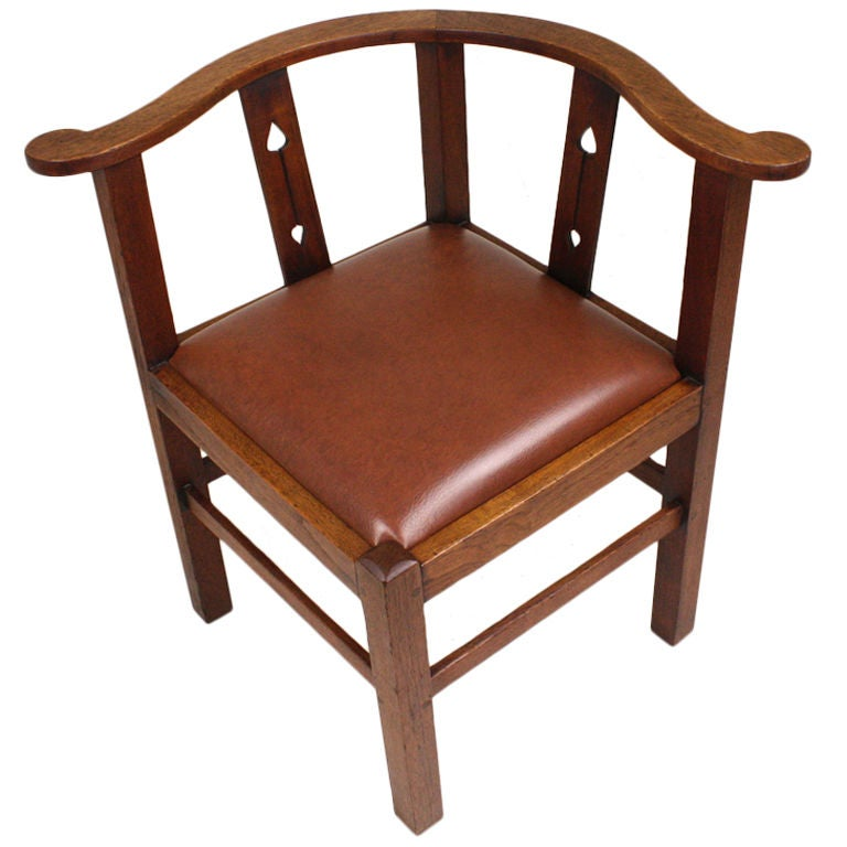 Antique English Arts & Crafts Corner Chair For Sale - Antique English Arts And Crafts Corner Chair At 1stdibs