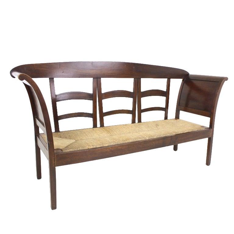 French Antique Walnut Sofa