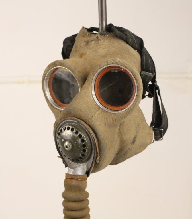 Unique English WW1 Gas Mask Lamp Base At 1stdibs
