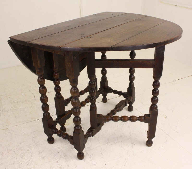 Antique English Oak Period Gateleg Table at 1stdibs