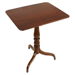 Antique Georgian Mahogany One-board-top Pedestal Table