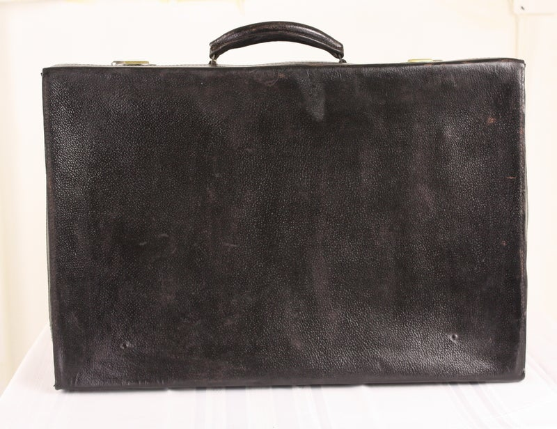 Set Of Four Black Leather English Vintage Cases image 3