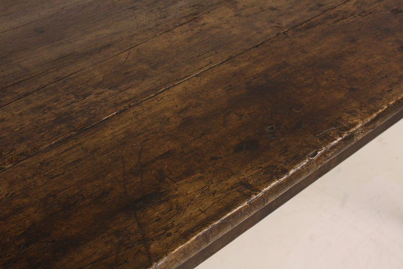 Large Antique French Poplar Distressed Farm Table At 1stdibs