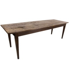 Large Antique French Poplar Distressed Farm Table