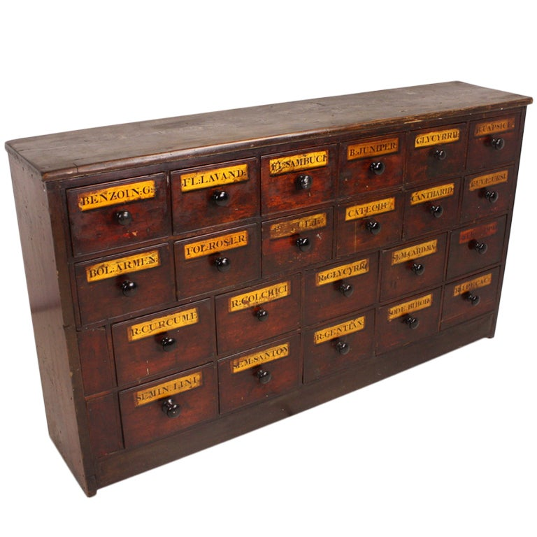 Antique English Apothecary Chest at 1stdibs