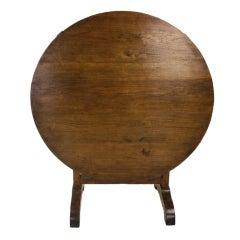Antique French Round Country Table