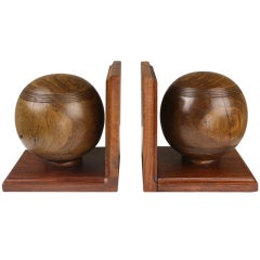 Pair of Antique English Bowling Ball Bookends
