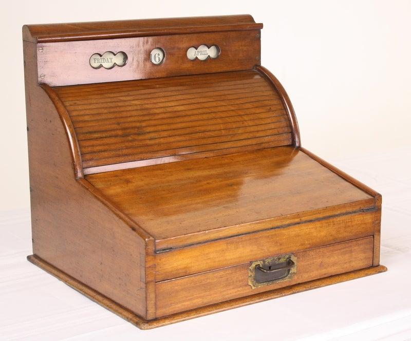 Military Lap Desk, Daily Calendar, English Antique 3 - Military Lap Desk, Daily Calendar, English Antique At 1stdibs