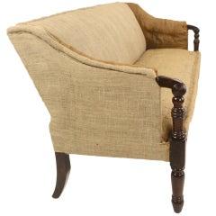 Antique English Regency Country House Mahogany Sofa