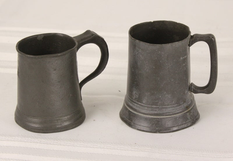 Five Antique English Pewter Mugs Collection At 1stdibs