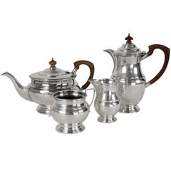 English Silverplated Four Piece Coffee/Tea Serving Set