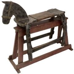 Folk Art Antique English Rocking Horse