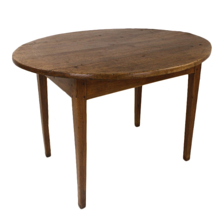 French Antique Oval Breakfast Table Two Drawers At 1stdibs