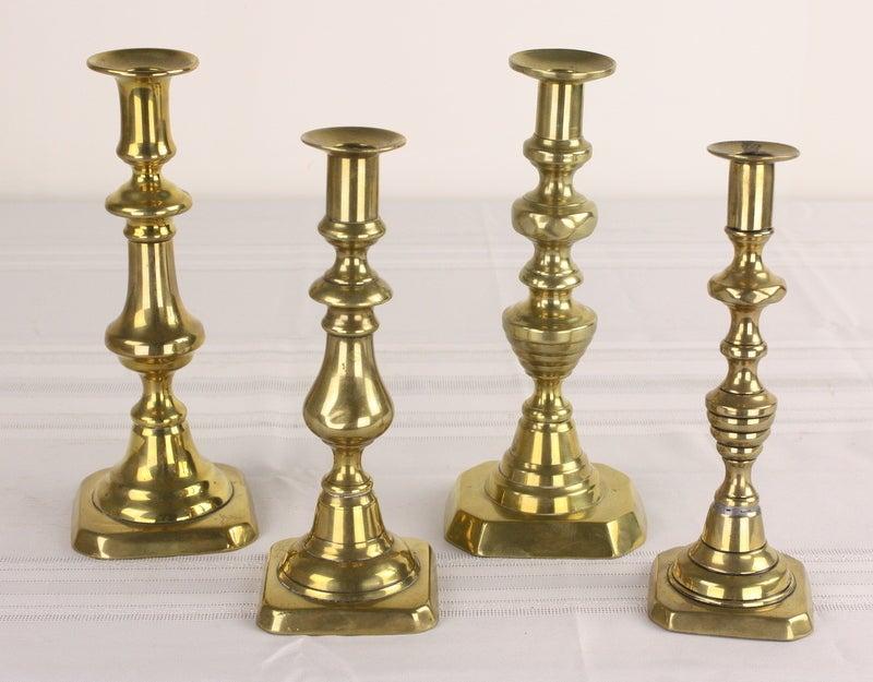 Brass Candlesticks antique english brass candlesticks, five pair, four singles at 1stdibs