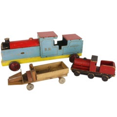 Collection of Three Vintage Wooden Toys