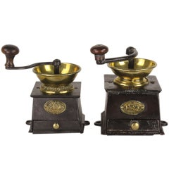 Two Antique English Coffee Grinders