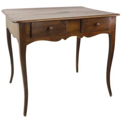 Louis XV Two-Drawer Walnut Side Table