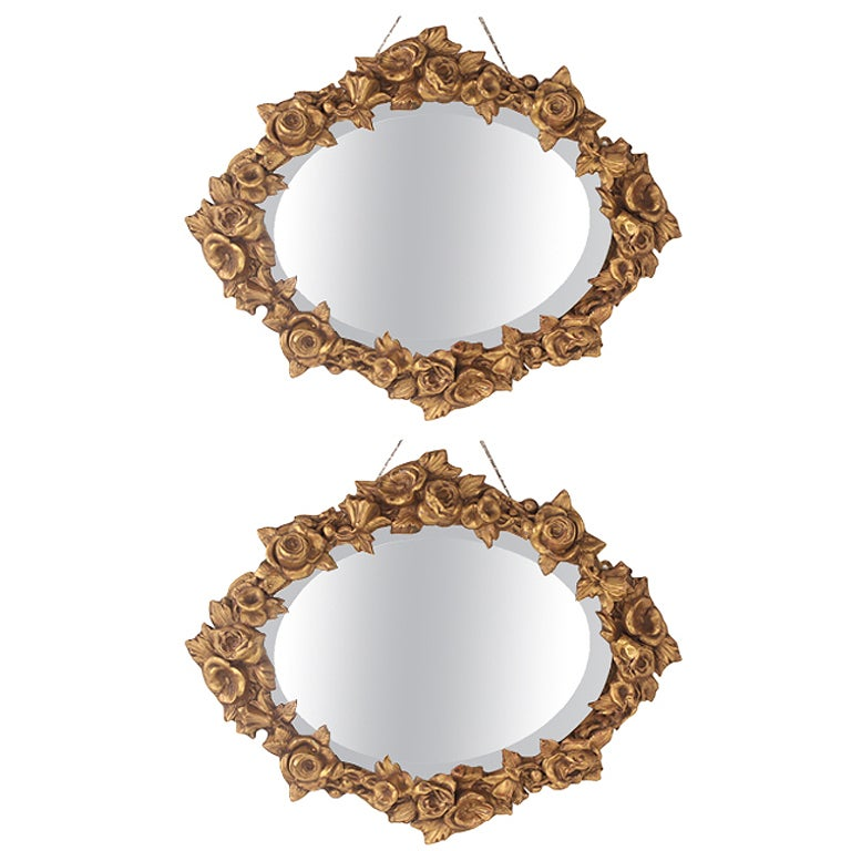 Pair of Vintage Italian Wall Mirrors