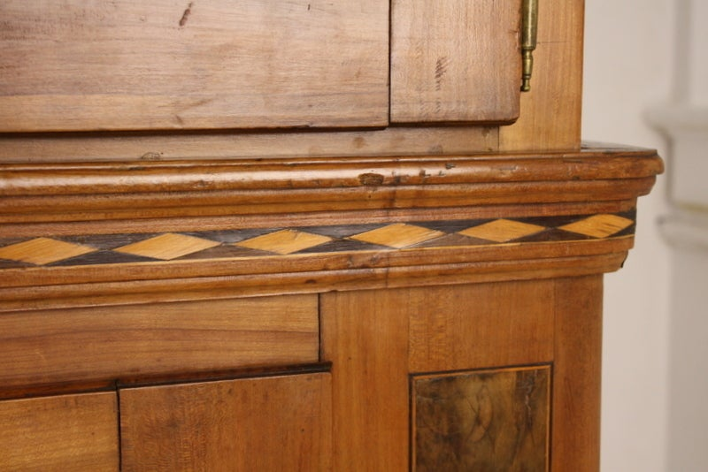 Stunning inlaid 18th century french alsacian cabinet for for 1 panel inlaid oak veneer door