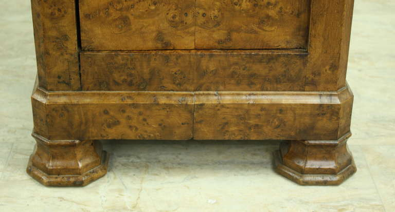 Louis Philippe Antique French Burr Elm Side Cabinet For Sale 2