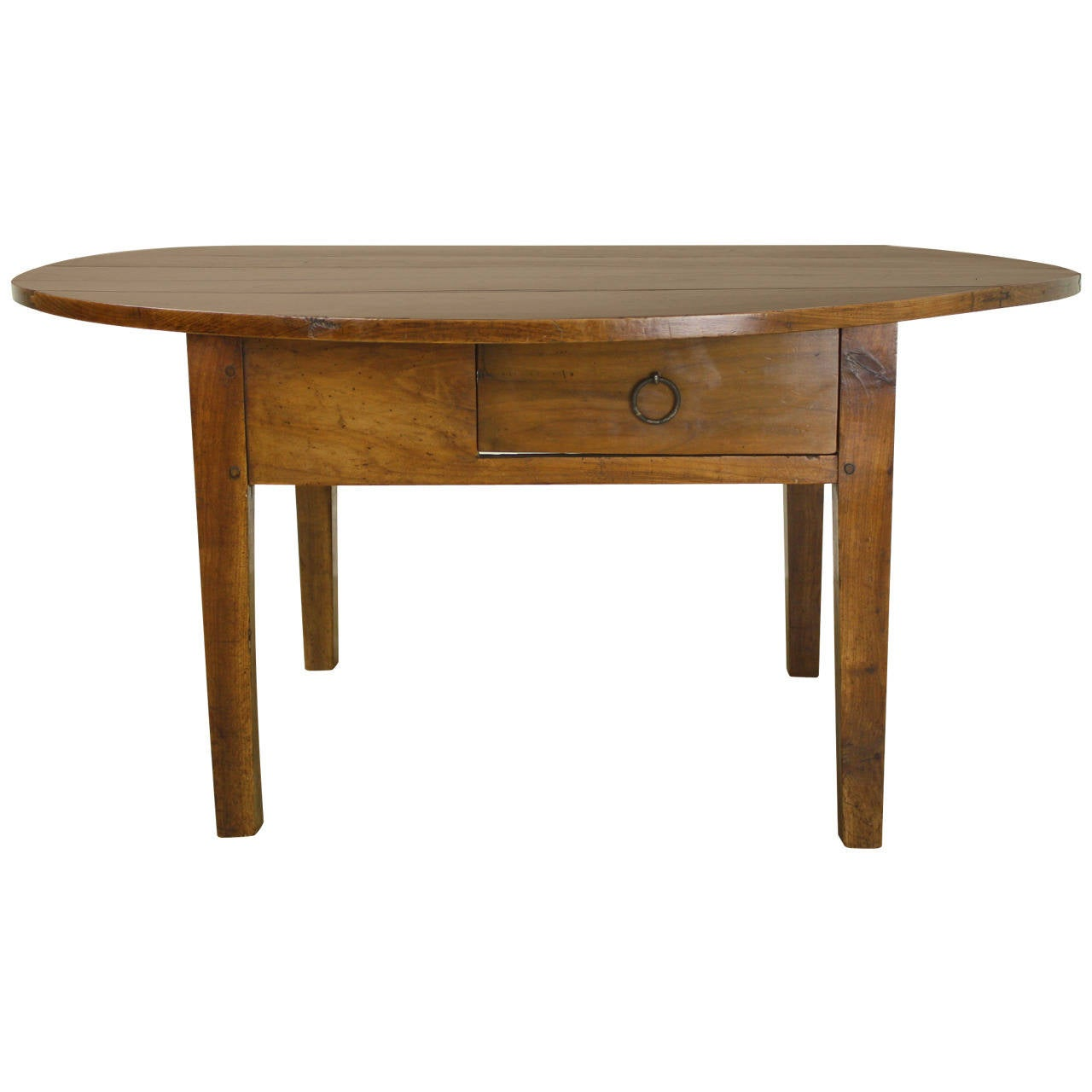 Antique oval cherry coffee table at 1stdibs Coffee table cherry