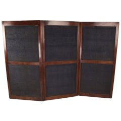 Antique Three-Fold Georgian Mahogany Dressing Screen