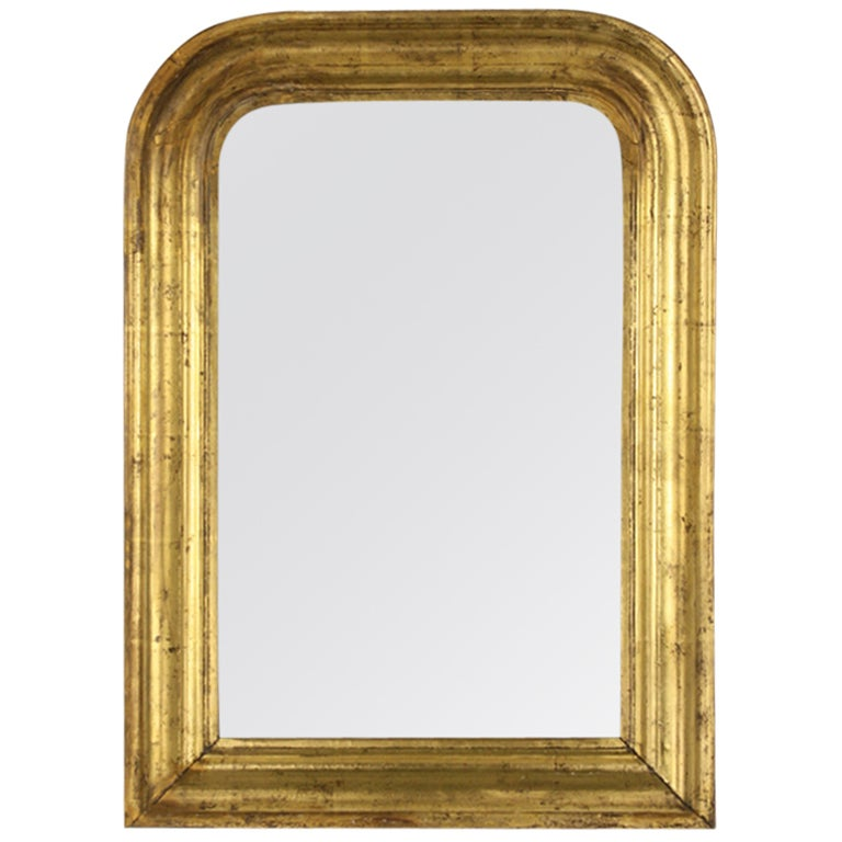 Charming small antique gold gilt louis philippe mirror at for Small gold mirror