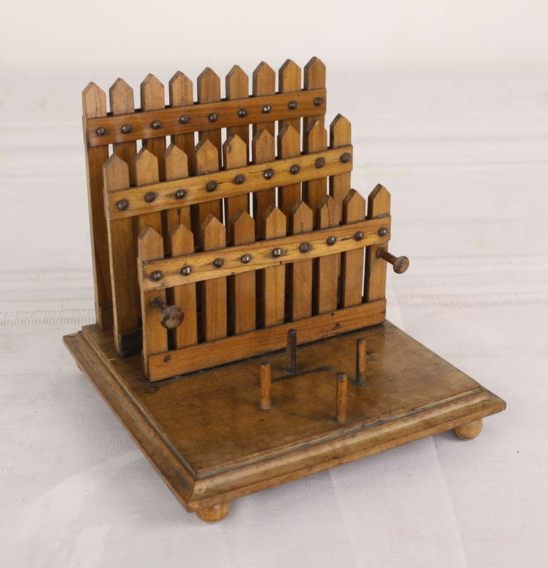 Picket fence english letter rack and silver inkstand at for Furniture 6 letters