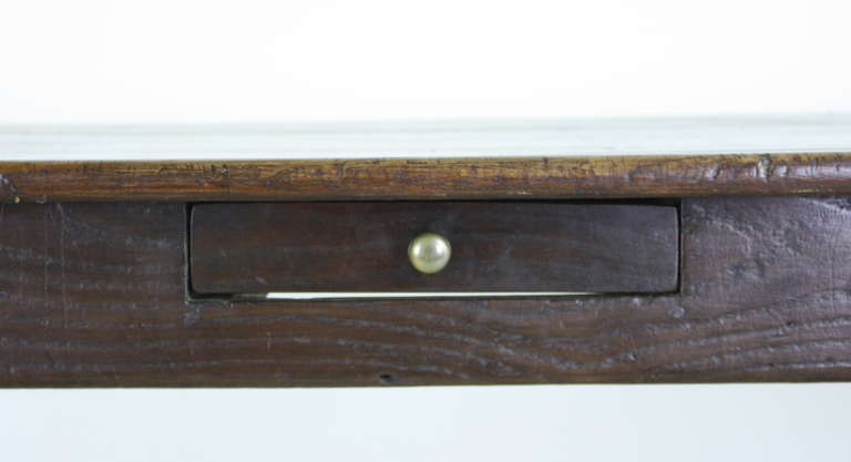 This antique french cherry side table is no longer available - Antique French Cherry Farm Table At 1stdibs