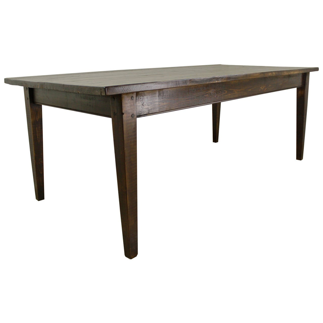 Dark pine farm table at 1stdibs for Pine dining room table