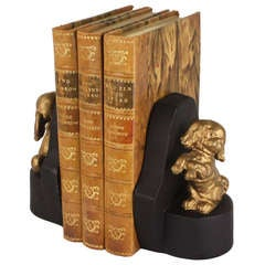 Antique English Dog Bookends