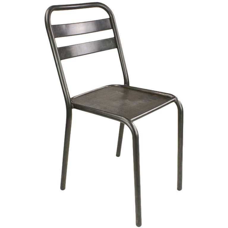 sixvinta ge french industrial steel dining chairs at 1stdibs