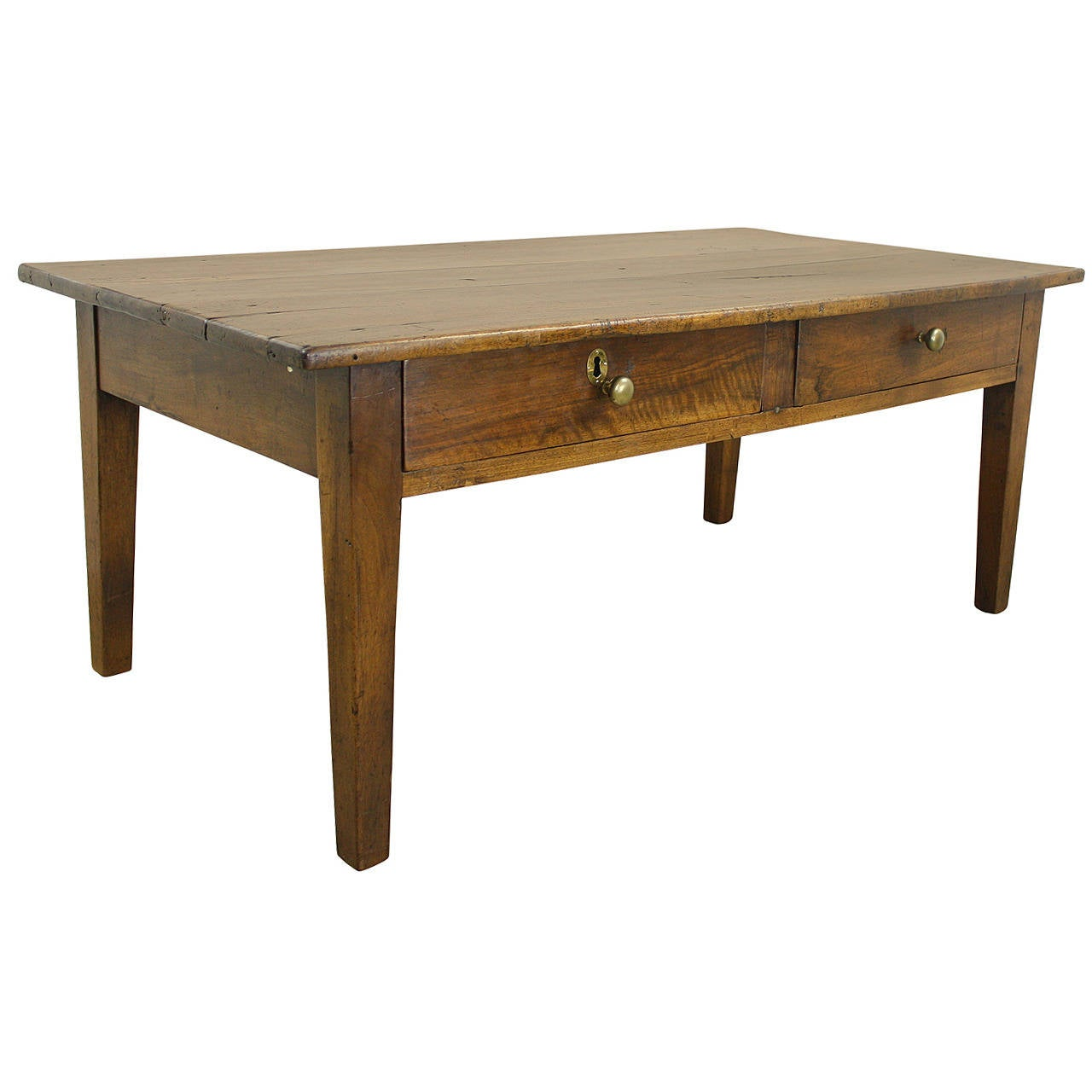 Antique Two Drawer Walnut Coffee Table At 1stdibs