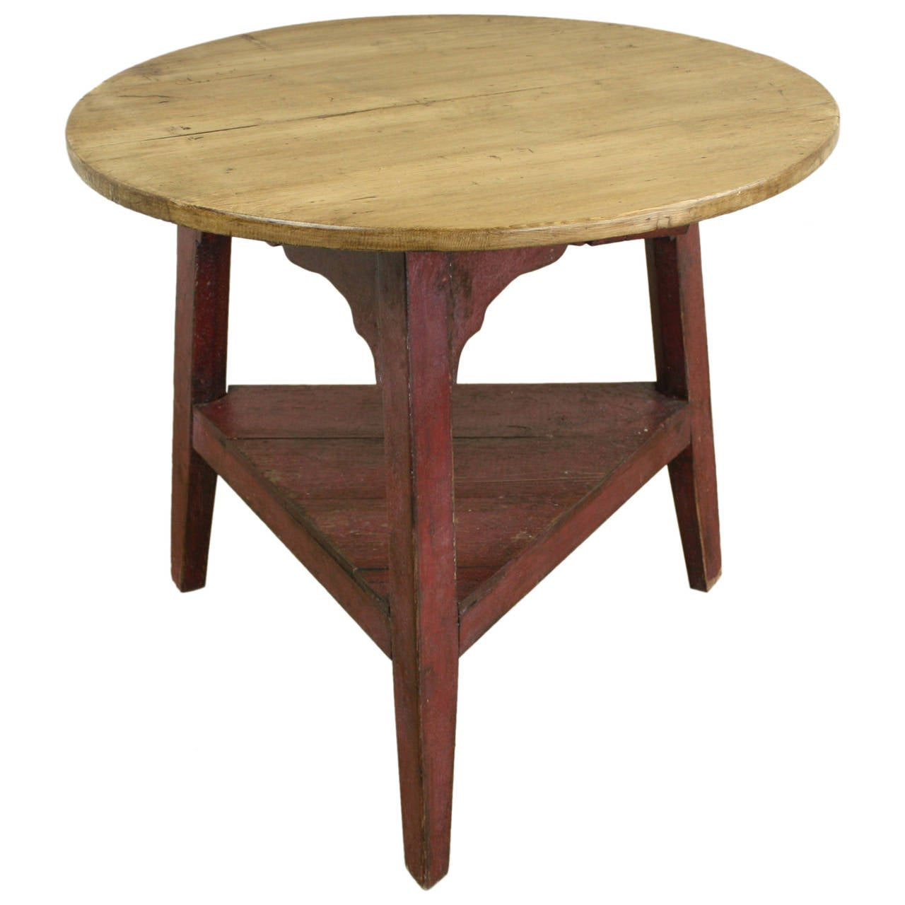 Antique welsh pine cricket table red painted base at 1stdibs antique welsh pine cricket table red painted base 1 geotapseo Images