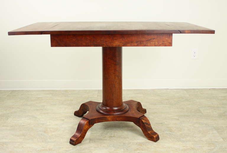 Antique swedish column base dropleaf table for sale at 1stdibs for Emacs org table delete column