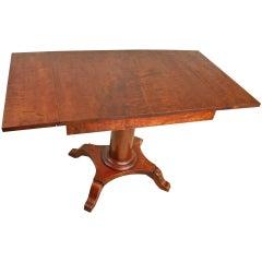 Antique Swedish Column-Base Dropleaf Table