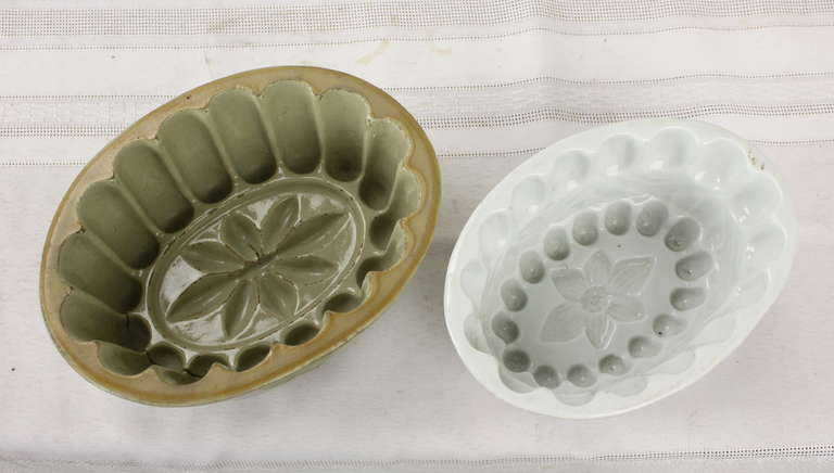 Victorian Six Antique English Jelly Molds For Sale