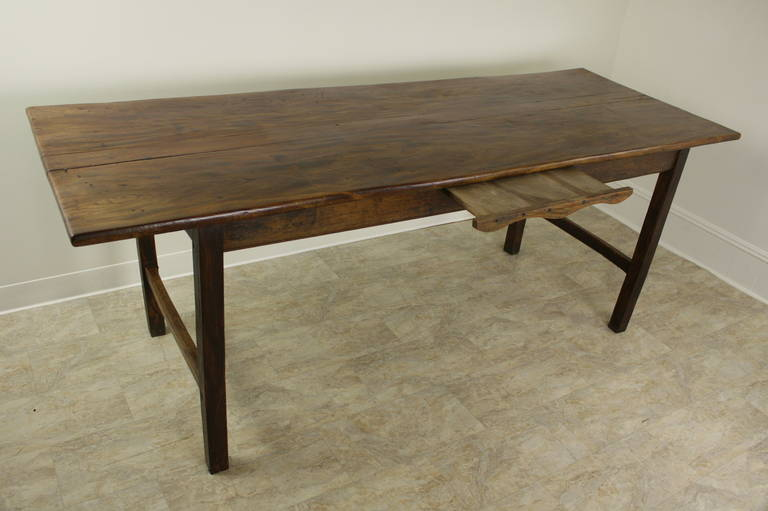 French Antique Elm Farm House Dining Table For Sale At 1stdibs
