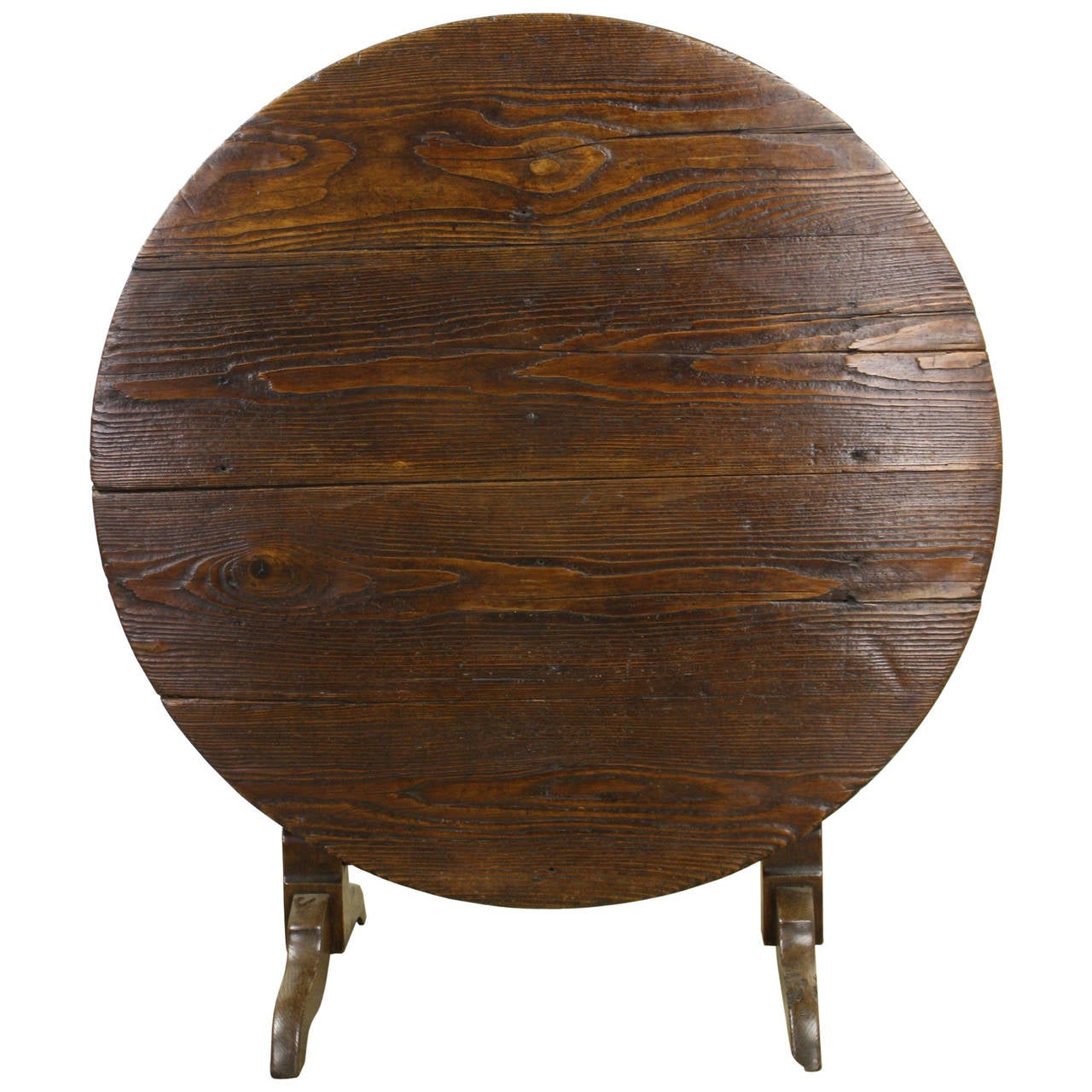 Mellow Pine Tilt-Top Wine or Center Table