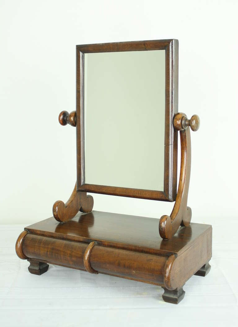 Antique english mahogany shaving mirror at 1stdibs for Shaving mirror