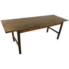 French Antique Elm Farm House Dining Table