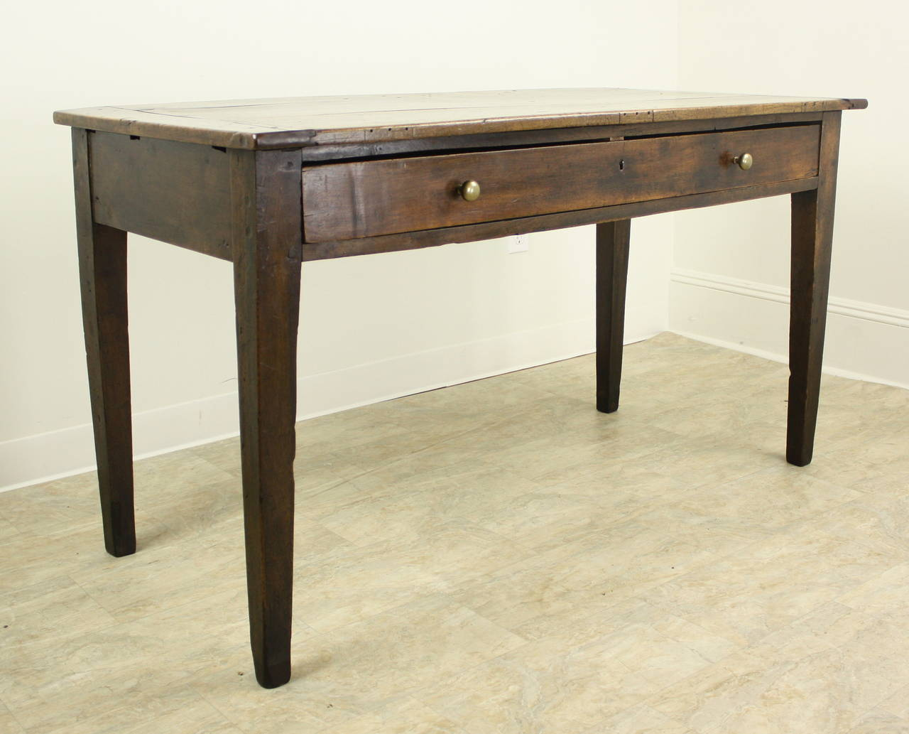 Antique Oak Writing Table Or Desk With