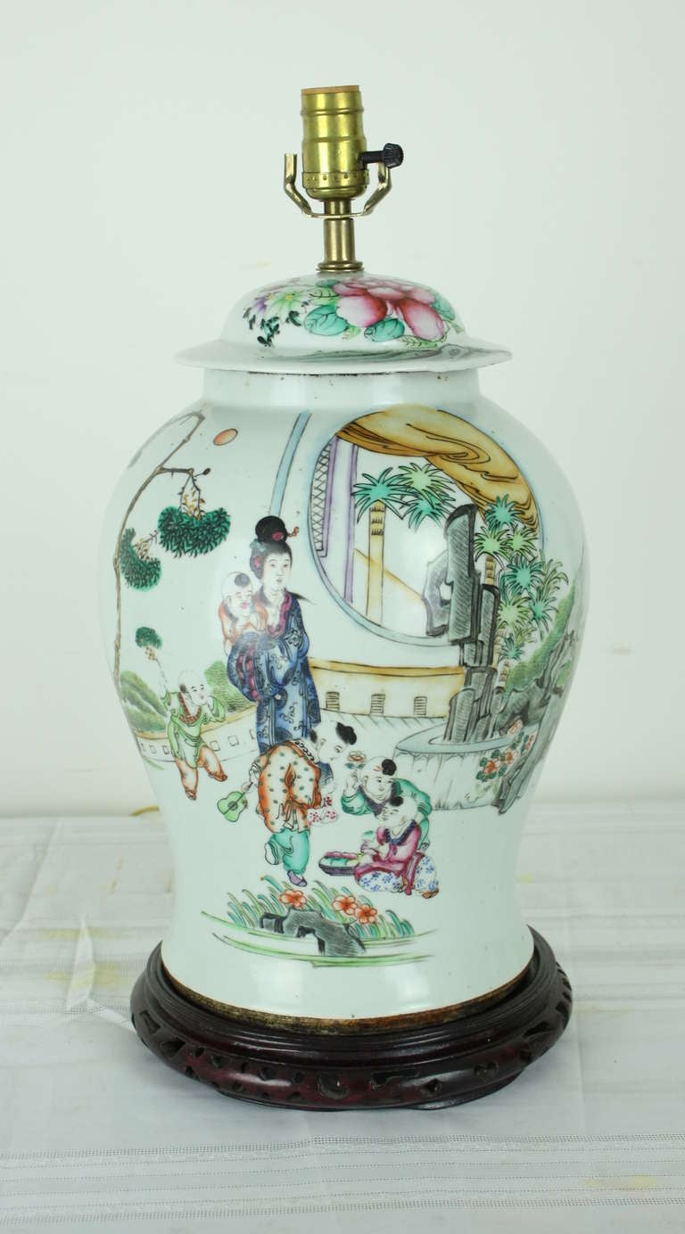 Antique Chinese Ginger Jar Lamps At 1stdibs