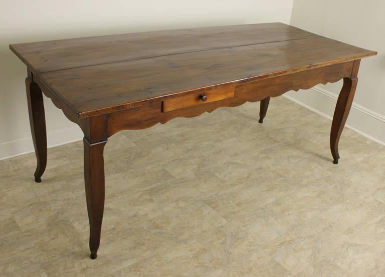 Antique French Louis Xv Cherry Dining Table For Sale At