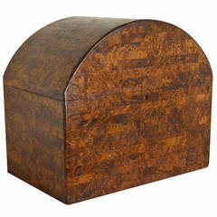 French Art Deco Dome-Top Box, Miniature Parquetry Work
